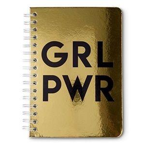 """Tri-Coastal Design NWT Gold """"GRL PWR"""" Notebook"""
